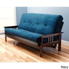 Somette Monterey Queen Size Futon Sofa Bed With Suede Innerspring Mattress