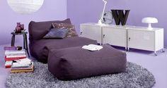 Sedací pytle, vaky, polštáře jsou pohodlné a moderní | Elegantní bydlení
