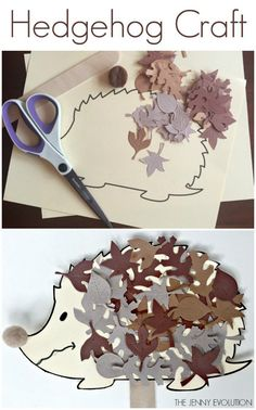 Hedgehog Craft for Kids - Paper Craft for Children