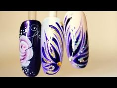2 nail art tutorials 2 christmas styles - YouTube