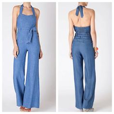 7c6ce44baee3 Anthropologie Elevenses Chambray denim romper 4 Beautiful chambray romper