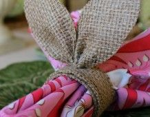 Burlap Bunny Ear Napkin Rings - Uncommon Designs  saw 1 at hobby lobby and loved it maybe a weekend project???