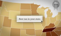 Every state imposes a tax on beer, but how much is charged varies widely by state. Beer 101, Ancient Mesopotamia, Across The Border, Six Packs, Beer Lovers, Pennies, Home Brewing, Missouri, Tennessee