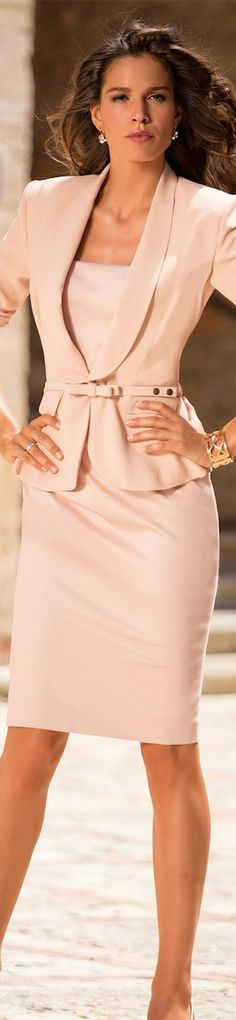 Madeleine Spring/Summer 2014 Arrivals i like the color and the belt its a great outfit Business Outfit, Business Fashion, Business Women, Business Formal, Office Fashion, Work Fashion, Women's Dresses, Looks Style, My Style