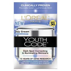 L'Oreal® Paris Youth Code Dark Spot Correcting & Illuminating SPF 30 Day Cream - 1.6 oz