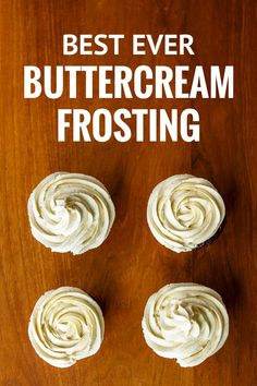 Best Whipped Buttercream Frosting Recipe -- super creamy and fluffy, not too sweet, this is quite possibly the BEST buttercream frosting ever. If you want to learn how to make whipped icing like Walmart, this is THE ONE! Whipped Buttercream Frosting, Cupcake Frosting Recipes, Homemade Cupcake Icing, Best Butter Cream Frosting Recipe, Gourmet Cupcakes, Best Icing For Cupcakes, Easter Cupcakes, Flower Cupcakes, Christmas Cupcakes