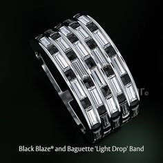 Bez Ambar's 'Light Drop' black Blaze and diamond baguette band. Designed and manufactured in our Los Angeles Studio Bez Ambar's 'Light Drop' black Blaze and diamond baguette band. Designed and manufactured in our Los Angeles Studio Diamond Wedding Bands, Diamond Rings, Wedding Rings, Girls Jewelry, Fine Jewelry, Baguette Diamond Band, Princess Cut Diamonds, Anniversary Rings, In This World