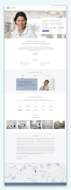 Webdesign inspiration for latest trends in layout and design 2020 for doctors.