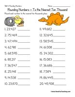 4th grade Math Worksheets: Rounding to the nearest 10, 100, and ...