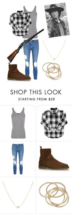 """""""Carl Grimes inspired"""" by rainaaaskyyy ❤ liked on Polyvore featuring ATM by Anthony Thomas Melillo, L'Agence, Yves Saint Laurent, ABS by Allen Schwartz, thewalkingdead, TWD, chandlerriggs and carlgrimes"""