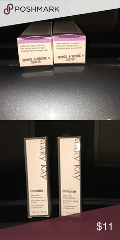 Mary Kay Matte wear liquid foundation bronze 4 Never used I have 2 in this color $11 each Mary Kay Makeup Foundation