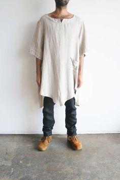German Oversized Linen Shirt