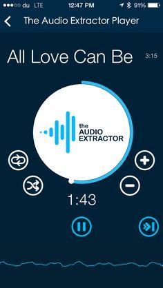 The Audio Extractor App  Audio Player
