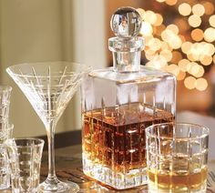 Mad Men style - picked up a bottle/glass set like this last weekend! Super excited.