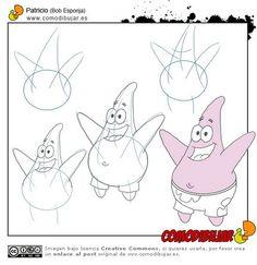 Aprenda como desenhar os personagens do Bob Esponja - Desenhos e Riscos-desenhos-colorir-colorear-riscos para pintar-dibujos-coloring pages Drawing Lessons For Kids, Art Drawings For Kids, Disney Drawings, Cartoon Drawings, Easy Drawings, Drawing Sheet, Guy Drawing, Starfish Drawing, Cartoon Tutorial