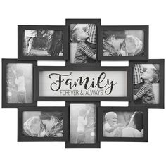 Family 8-Opening Dimensional Collage Frame ($15) ❤ liked on Polyvore featuring home, home decor, frames, black frames, 4x6 collage frames, black collage picture frames, black collage frames and quote frames