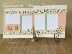 """Beautiful double page layout created with """"hello lovely"""" papers"""