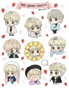 Baekhyun Fanart, Chanbaek Fanart, Kpop Fanart, Chanyeol, Exo Cartoon, Exo Stickers, Exo Anime, Exo Fan Art, Cute Couple Art
