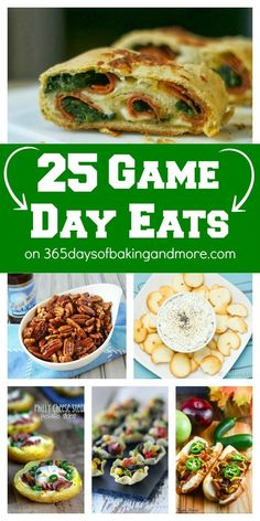 25 Game Day Eats on 365 Days of Baking & More