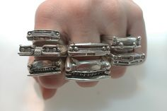 Sterling Silver Rings - car rings