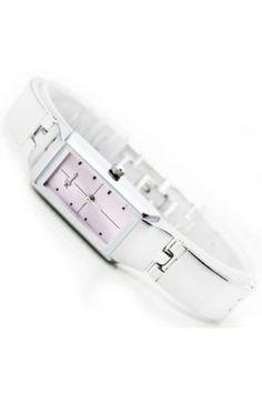 Cross Print Slim Bracelet Watch