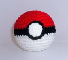 Crocheted Pokeball - our top 9 nerdy projects for you to knit and crochet - find them over on the LK blog!
