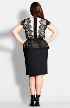 True envy colorblock peplum dress