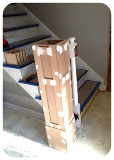 Newel Post Diy, how to build a newel post to fit over existing outdated newel post.