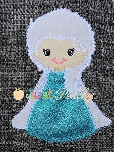 Freezing Princess Applique Design