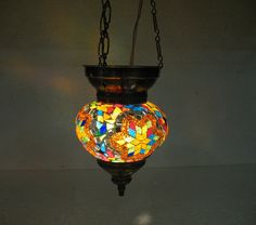 Moroccan lantern mosaic hanging lamp glass chandelier light lampe mosaiqe hng 36 #Handmade #Moroccan