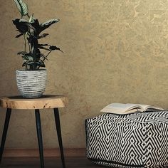 Roommates Gold Leaf Peel And Stick Wallpaper In Gold