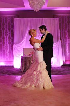 Purple Styled Wedding Shoot by Heather Rice Photography. Westin Lake Mary www.ourdjrocks.com #ourdjrocks #purpleuplighting #dancingonclouds