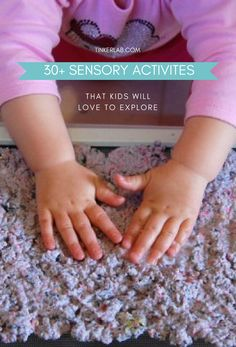 Toddlers, preschoolers, young children, and children with sensory processing disorders will benefit from this huge list of sensory activities for kids. Activities For 1 Year Olds, Party Activities, Sensory Activities, Infant Activities, Sensory Play, Easy Fluffy Slime Recipe, Baking Soda Slime, Cooked Playdough, Fall Harvest Party