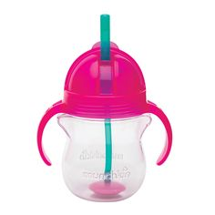Bottom's up!Lift it like a bottle, but drink from a straw. This Weighted Flexi-Straw cup is perfect for transitioning from a bottle to a sippy cup, allowing your toddler to drink from any angle.