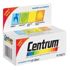 CENTRUM A TO ZINC TABS 90