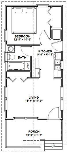 16x32 House -- #16X32H1L -- 511 sq ft - Excellent Floor Plans