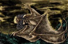 Philippine Mythology. Manananggal - a special type of aswang that has the ability to fly after separating itself from the lower half of its body. Most manananggals, like aswang, are females. Appearing in human form during the day, at night it finds an isolated place to transform. Using bat-like wings it flies into the night, hunting for victims. It typically feeds on fetuses from a pregnant woman's womb using its proboscis to penetrate the woman's navel and suck the blood of the unborn…