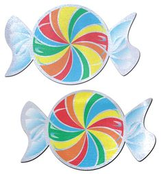 ea33c7320c Candy  Rainbow Swirl on White Nipple Pasties by Pastease® o s