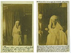 William Crookes, UK Left: Portrait of Katie King, (Florence Cook) 1874 Right: William Crookes and Katie King