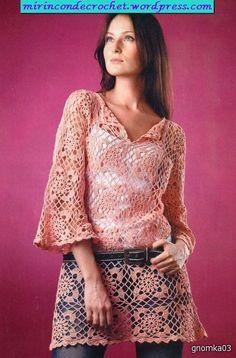 Cambiando de tema….les dejo esta túnica divina!!!!! | Mi Rincon de Crochet