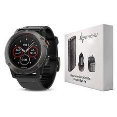 3939d8e8c Garmin Fenix Sapphire Multisport GPS Watch with Preloaded Topo Maps and  Ultimate Power Bundle (Slate Gray with Black Band)