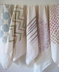 Untold Imprint cotton dish towels on Etsy.  Flour sack towels!