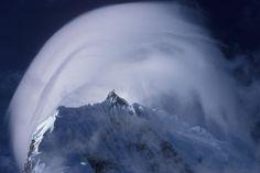 Pileus cloud on Chopicalqui (6354m) , Cordillera Blanca, Peru