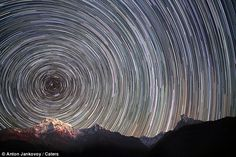 Star Trail in the Himalayas