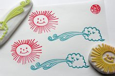the sun and the north wind rubber stamps. nature by talktothesun