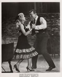 THE KING AND FOUR QUEENS (1956) - Clark Gable dances with Barbara Nichols - Directed by Raoul Walsh - United Artists