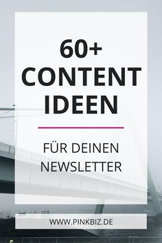 Content ideas for your email marketing - Alexandra Polunin - Do you need inspiration for email marketing? There are over 60 content ideas for your weekly newsle - E-mail Marketing, Affiliate Marketing, Marketing Digital, Marketing And Advertising, Business Marketing, Content Marketing, Social Media Marketing, Social Web, Mobile Marketing