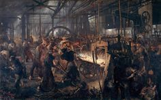Adolf von Menzel (Allemagne, 1815-1905) – Das Eisenwalzwerk (1875) Alte Nationalgalerie, Berlin