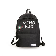 df52a3acfb Menghuo Letter embroidery Backpack Women Preppy Style Simple Cartoon School  Bags for Teenagers Backpacks for Teenage girls bag