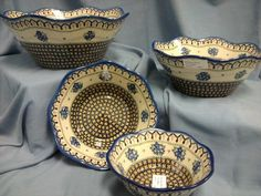 Beautiful Nesting Bowls from Poland
